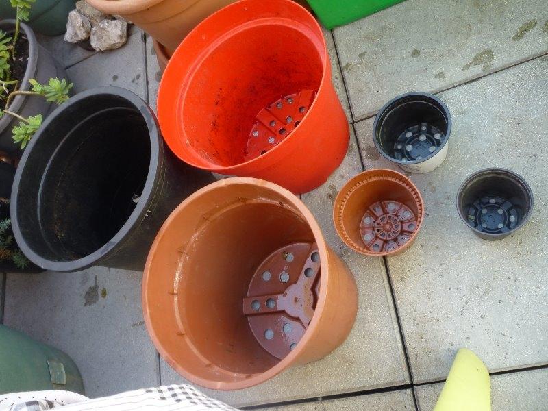 Recyclage, Récupe & Don d'objet : lots de pots en tbe rempotage