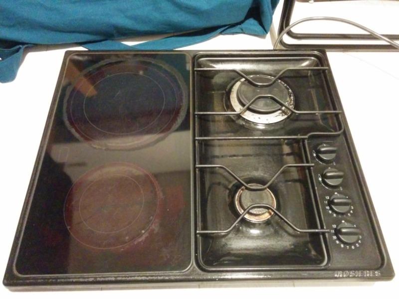 Recyclage, Récupe & Don d'objet : plaque de cuisson mixte gaz/électrique