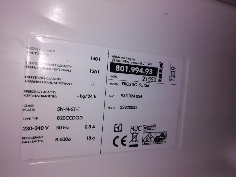 Recyclage, Récupe & Don d'objet : réfrigérateur intégré