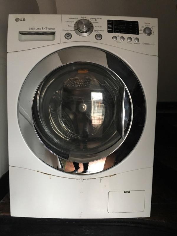 Recyclage, Récupe & Don d'objet : lave-linge lg 9kg. a réparer