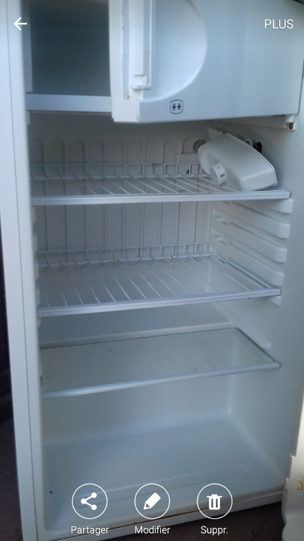 Recyclage, Récupe & Don d'objet : petit frigo blanc