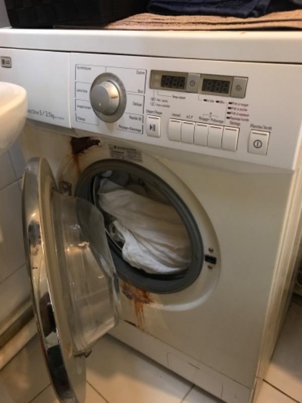 Recyclage, Récupe & Don d'objet : lave linge/ sÉchant frontal lg direct driv...