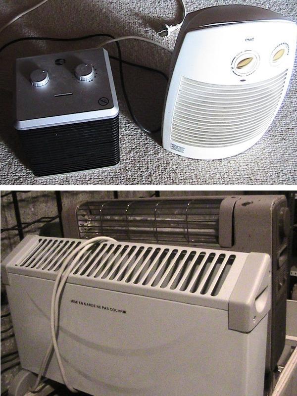 Recyclage, Récupe & Don d'objet : lot de 4 radiateurs électriques à réparer