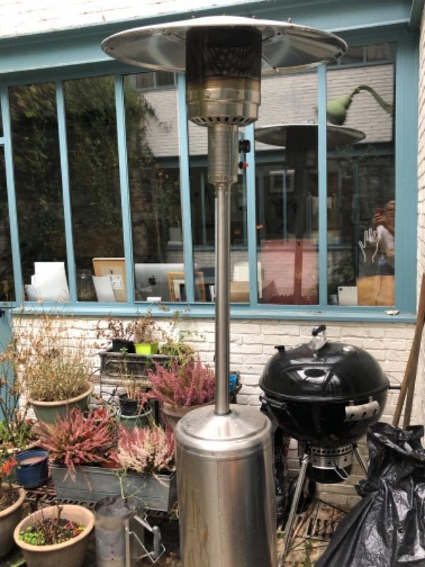 Recyclage, Récupe & Don d'objet : chauffage extérieur champignon