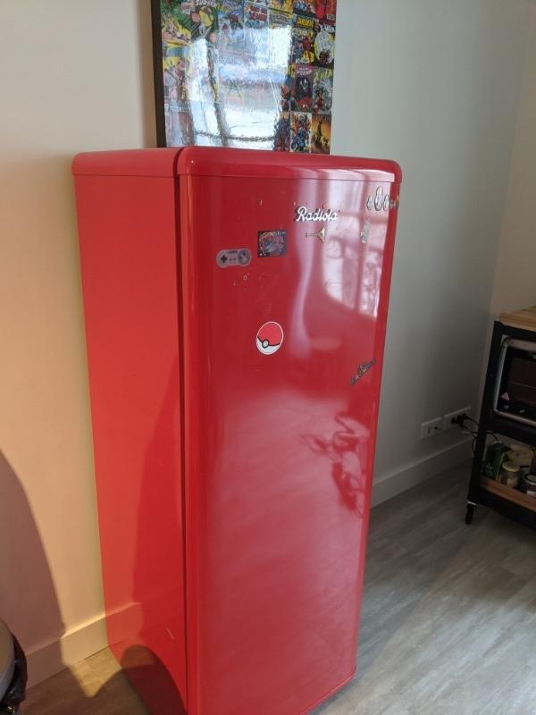 Recyclage, Récupe & Don d'objet : réfrigérateur style vintage