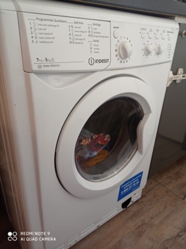 Recyclage, Récupe & Don d'objet : lave linge séche linge indesit