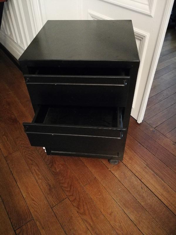 Recyclage, Récupe & Don d'objet : caisson de bureau noir et +