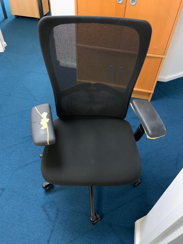 Recyclage, Récupe & Don d'objet : chaise de bureau noir