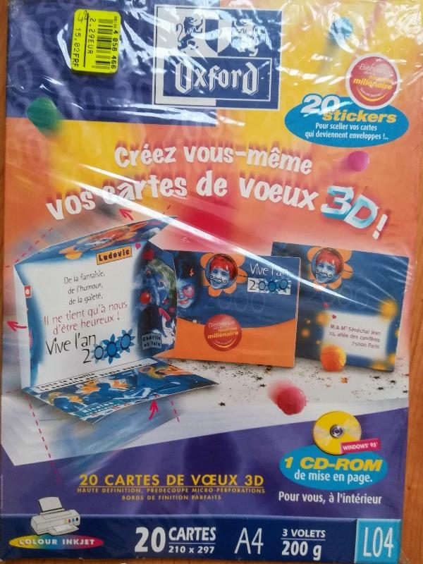 Recyclage, Récupe & Don d'objet : cartes de voeux en 3d