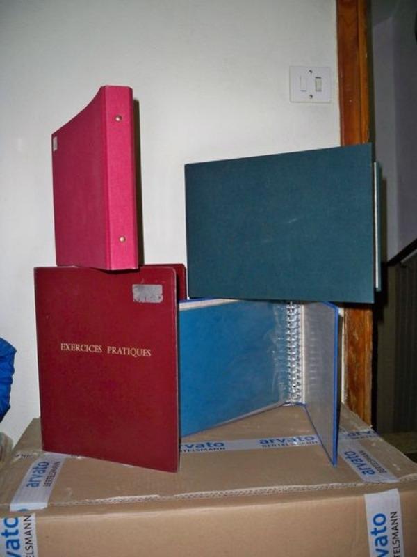 Recyclage, Récupe & Don d'objet : 4 classeurs à anneaux de 30 mm