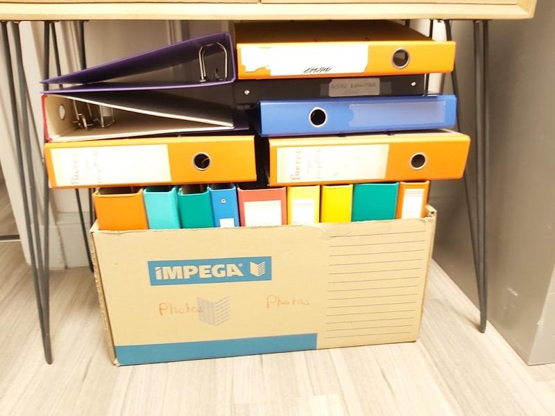 Recyclage, Récupe & Don d'objet : lot de classeurs