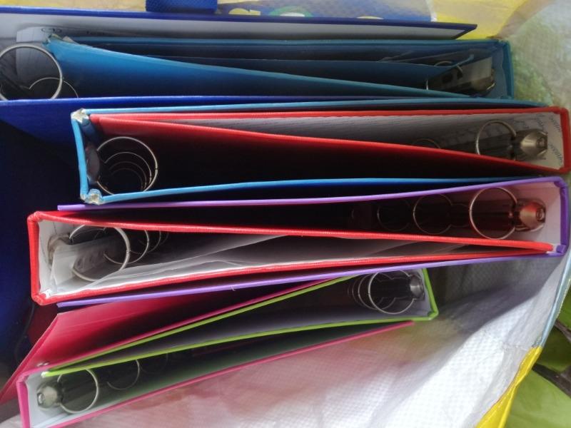 Recyclage, Récupe & Don d'objet : lot de classeurs à anneaux