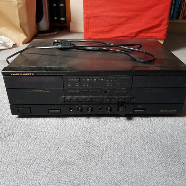 Recyclage, Récupe & Don d'objet : lecteur double cassettes marantz