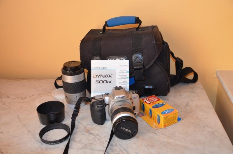Recyclage, Récupe & Don d'objet : appareil photo reflex argentique minolta