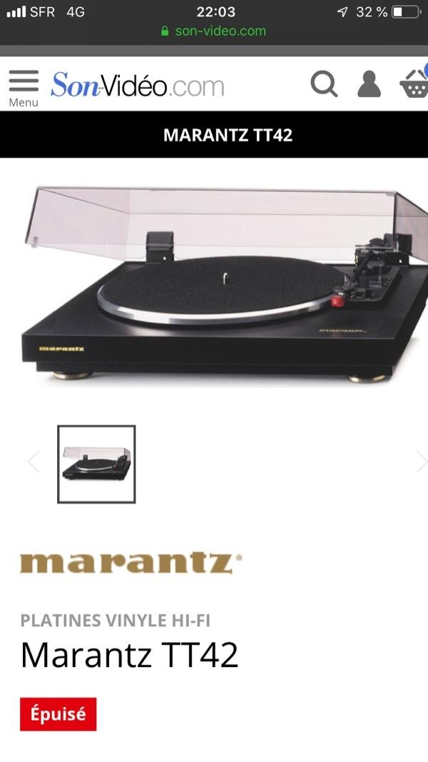 Recyclage, Récupe & Don d'objet : platine vinyle marantz