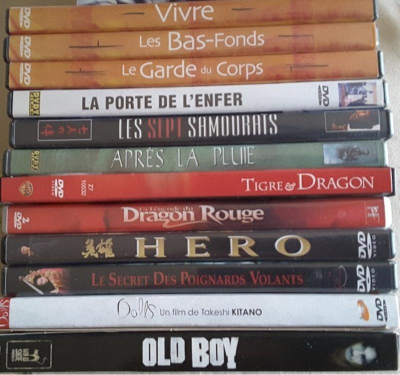 Recyclage, Récupe & Don d'objet : 12 dvds de films japonais et hongkongais