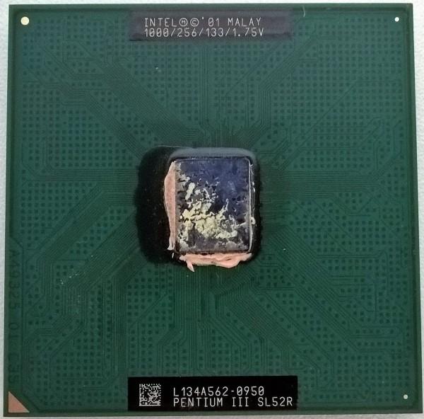 Recyclage, Récupe & Don d'objet : processeur pentium 3 à 1ghz - sl52r 1000/2...