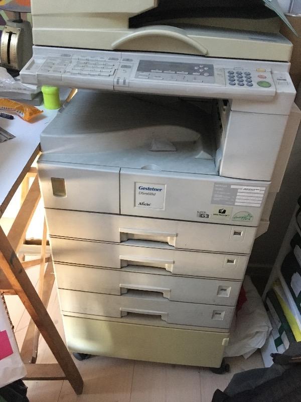 Recyclage, Récupe & Don d'objet : copieur gestetner ds m618d