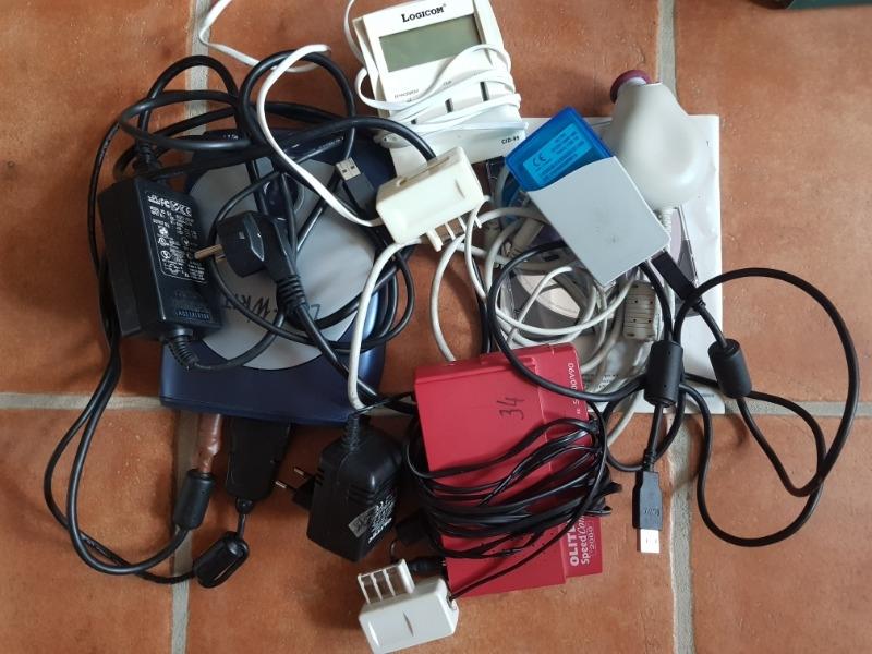 Recyclage, Récupe & Don d'objet : ,modems,souris,cables