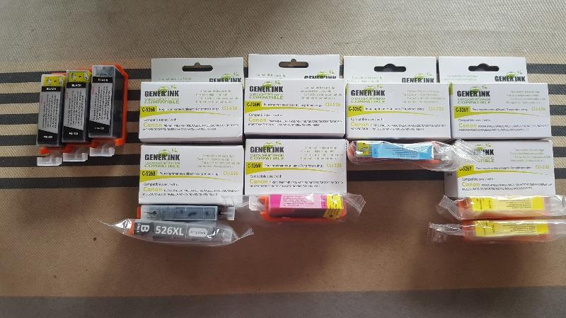 Recyclage, Récupe & Don d'objet : cartouches d'encre génériques pour imprima...