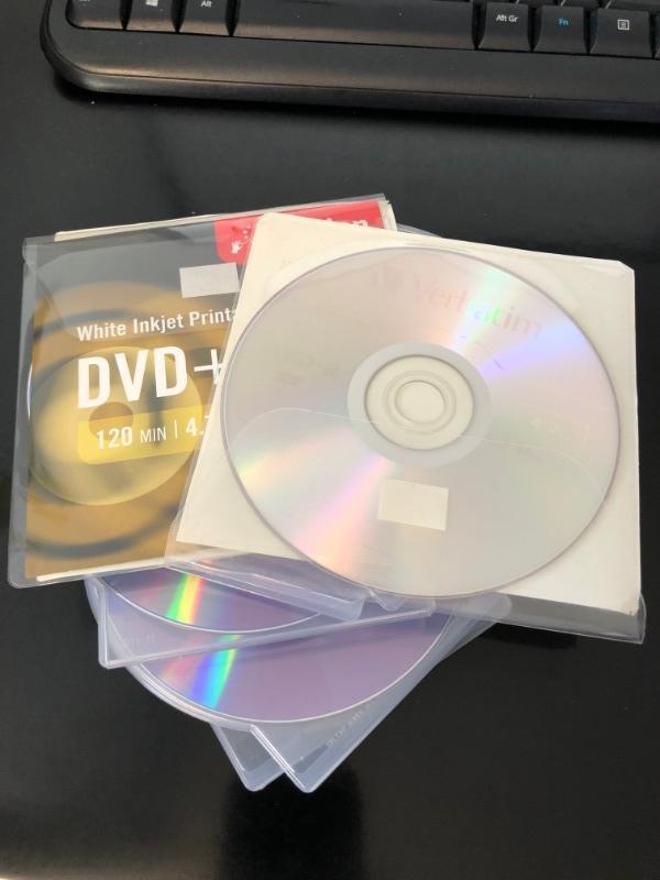 Recyclage, Récupe & Don d'objet : lot de dvd-r imprimable
