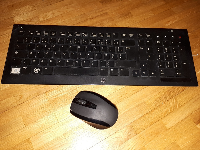 Recyclage, Récupe & Don d'objet : clavier sans fil hp + souris sans fil