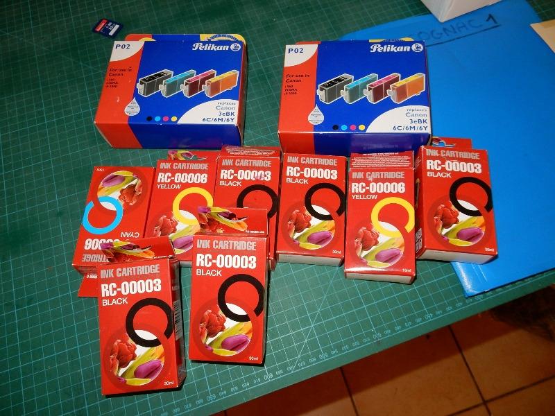 Recyclage, Récupe & Don d'objet : lot de cartouches imprimante 3ebk canon pi...
