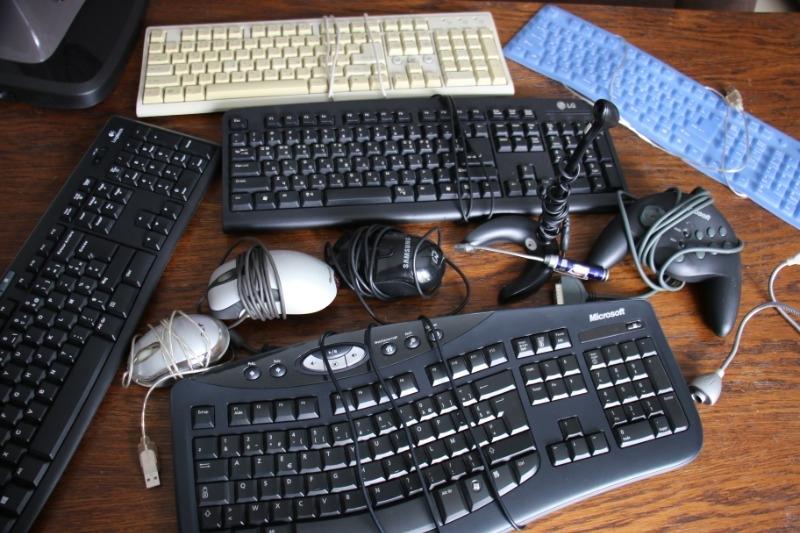 Recyclage, Récupe & Don d'objet : claviers (en fr, coréen, croate), des sour...