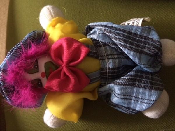 Recyclage, Récupe & Don d'objet : petit clown en porcelaine