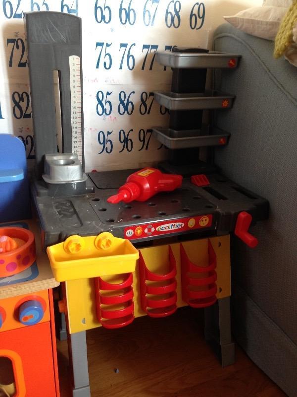 Recyclage, Récupe & Don d'objet : jouet, plan de travail en plastic
