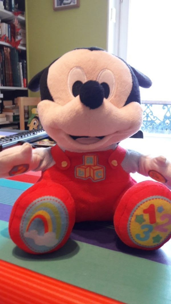 Recyclage, Récupe & Don d'objet : donne - peluche baby mickey interactive
