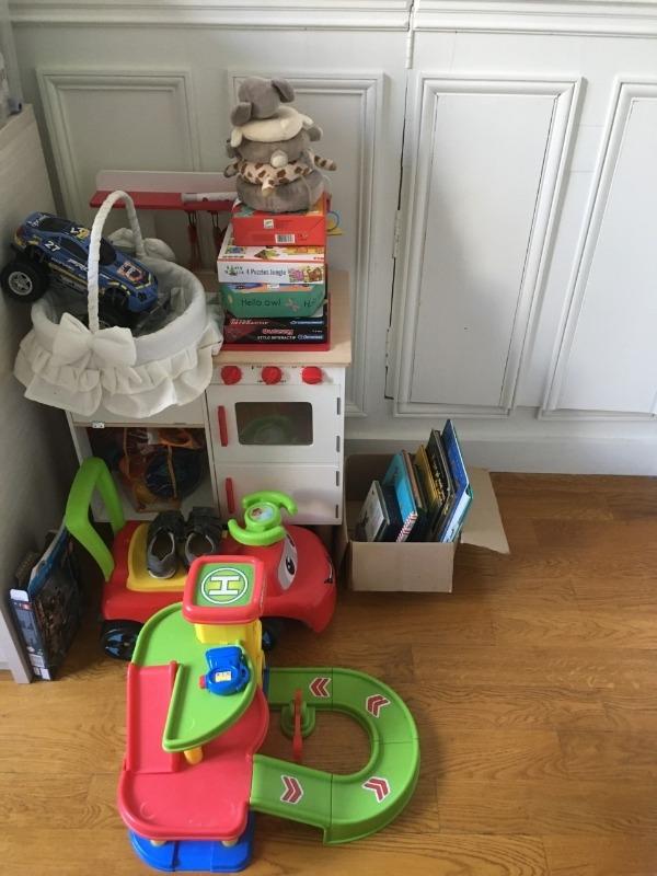 Recyclage, Récupe & Don d'objet : lot de jeux, jouets et livres pour enfant