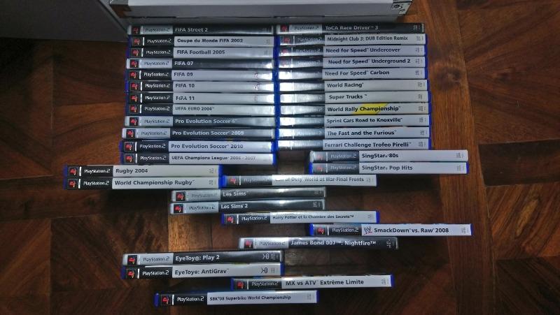 Recyclage, Récupe & Don d'objet : jeux ps2 + 2 manettes + 2 micros