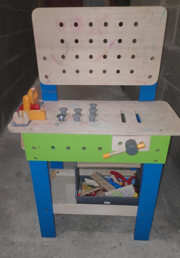 Recyclage, Récupe & Don d'objet : jeux enfants établi du menuisier