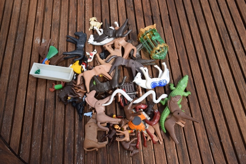 Recyclage, Récupe & Don d'objet : animaux playmobil