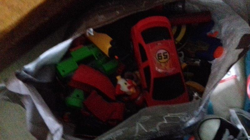 Recyclage, Récupe & Don d'objet : sac de jouets