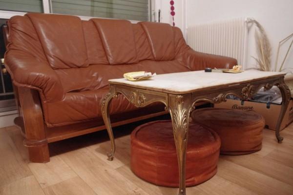 Recyclage, Récupe & Don d'objet : canape simile cuir 3 places fixe (non conv...
