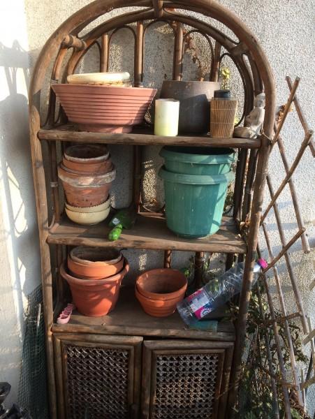 Recyclage, Récupe & Don d'objet : meuble bambou  130x65x30
