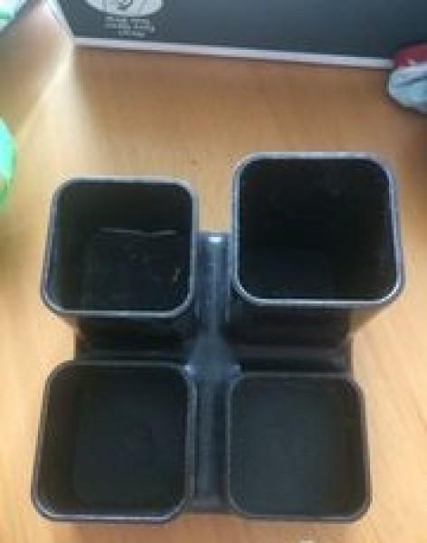 Recyclage, Récupe & Don d'objet : pot à crayons 4 cases