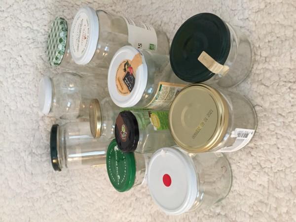 Recyclage, Récupe & Don d'objet : lot de bocaux