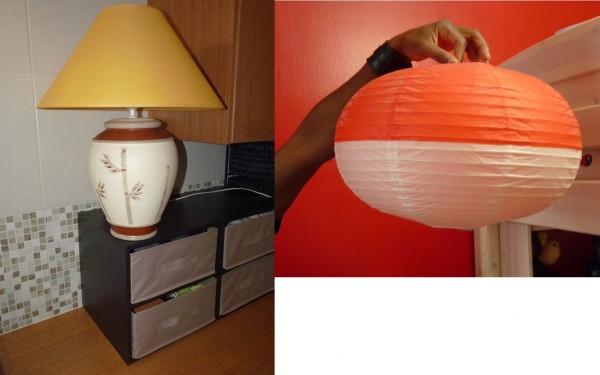 Recyclage, Récupe & Don d'objet : luminaires - lampe et suspension