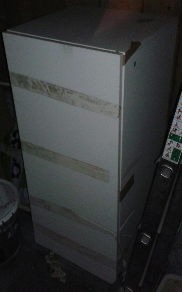 Recyclage, Récupe & Don d'objet : petit meuble rangement blanc
