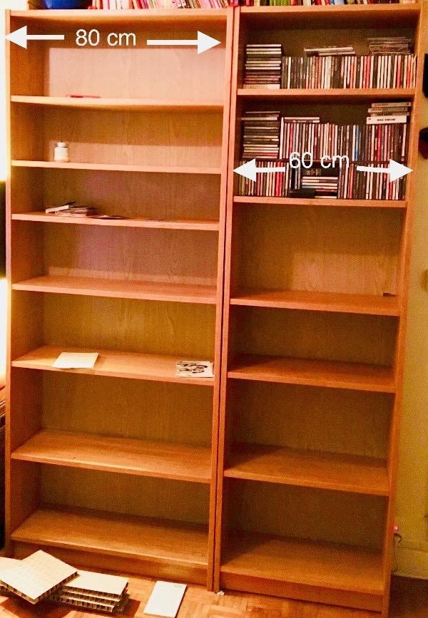Recyclage, Récupe & Don d'objet : 2 bibliothèques billy (ikea)