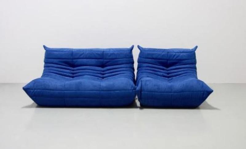 Recyclage, Récupe & Don d'objet : 2 gros fauteuils bleus togo (michel ducaroy)