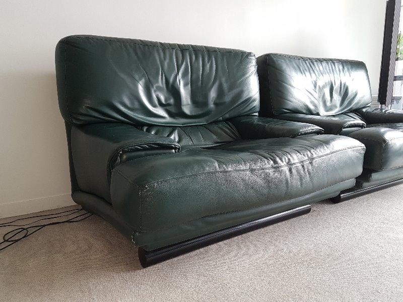 Recyclage, Récupe & Don d'objet : canapé + 2 fauteuils design en cuir