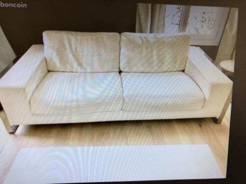 Recyclage, Récupe & Don d'objet : canapé 3 places blanc bon état