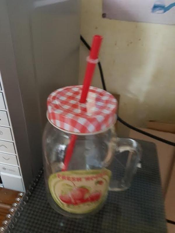Recyclage, Récupe & Don d'objet : jarre avec paille