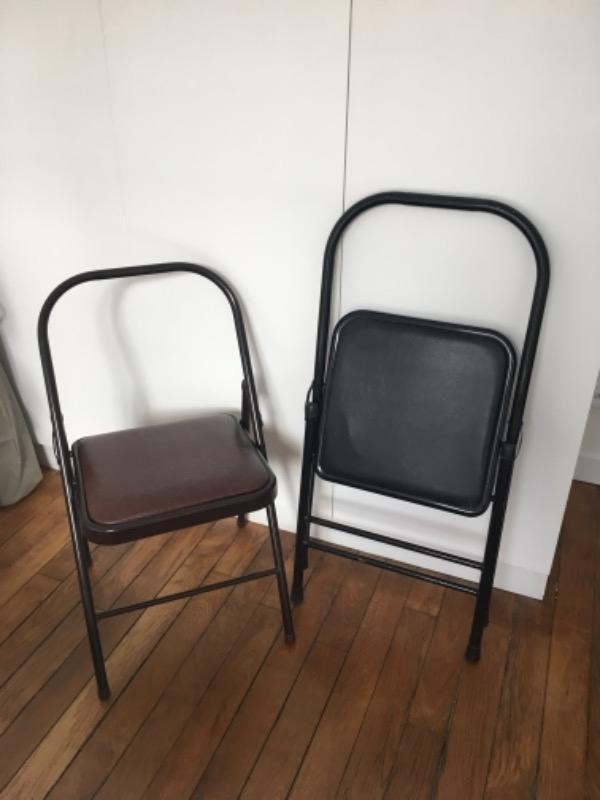 Recyclage, Récupe & Don d'objet : 2 chaises pliantes