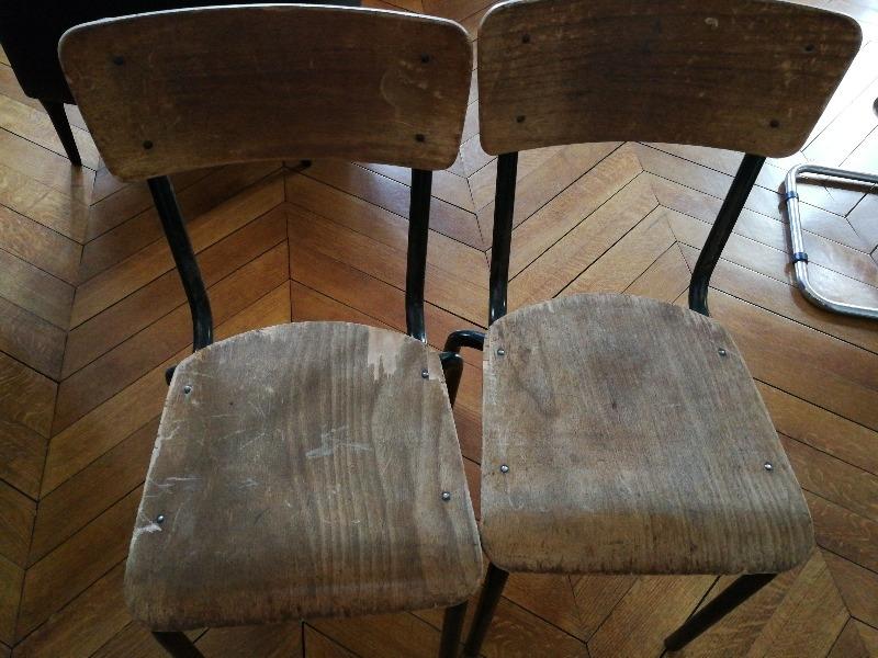 Recyclage, Récupe & Don d'objet : 2 chaises d'école