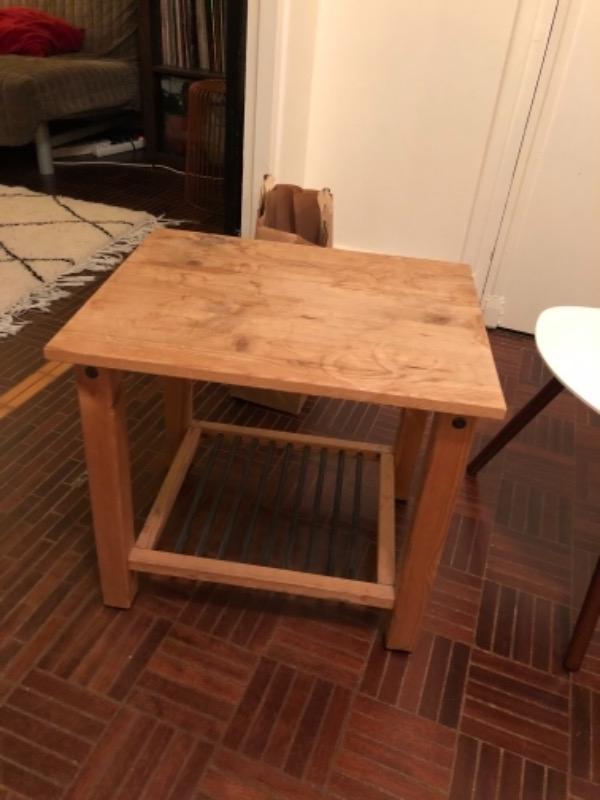 Recyclage, Récupe & Don d'objet : petite table en bois